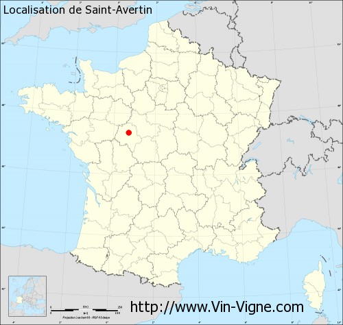 Carte  de Saint-Avertin