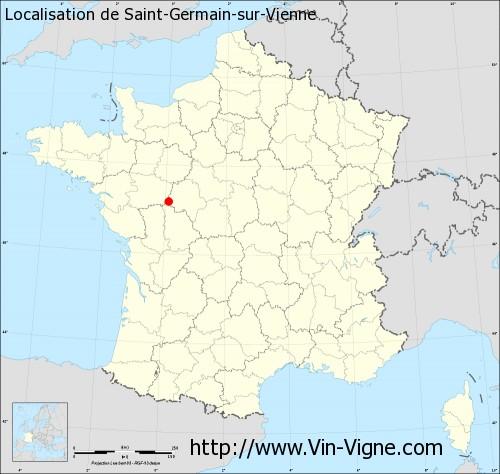 Carte de Saint-Germain-sur-Vienne