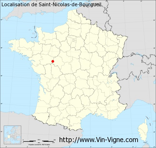 Carte de Saint-Nicolas-de-Bourgueil