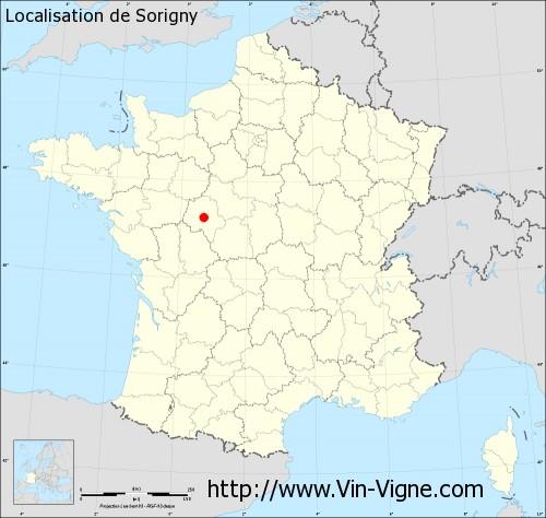 Carte de Sorigny