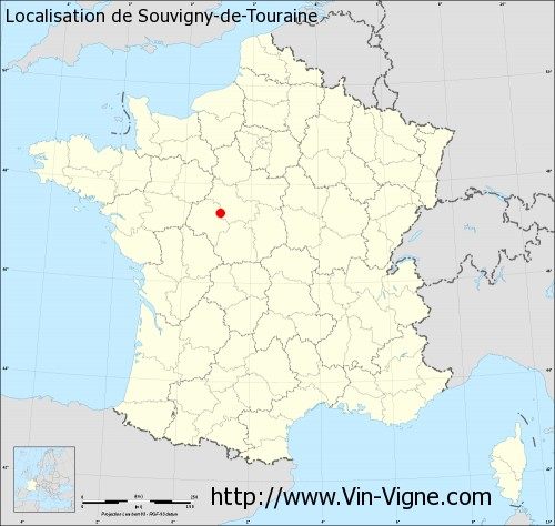 Carte de Souvigny-de-Touraine