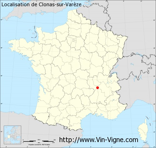 Carte de Clonas-sur-Varèze