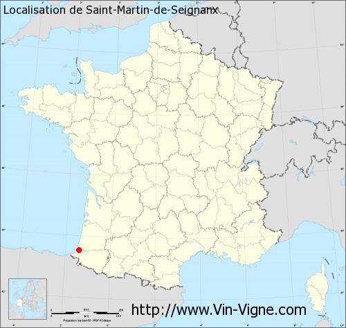 Carte de Saint-Martin-de-Seignanx