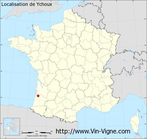 Carte de Ychoux