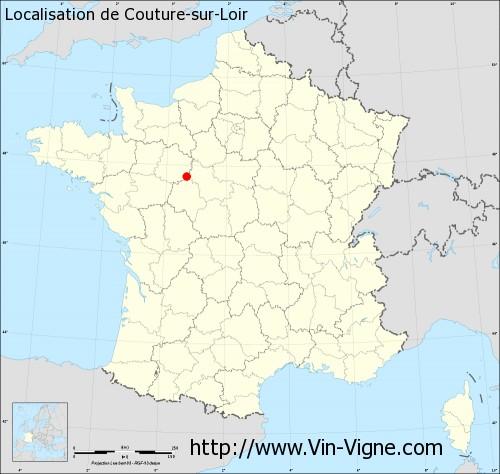 Carte de Couture-sur-Loir