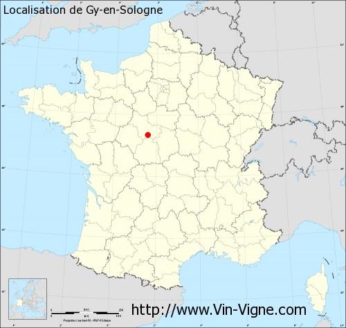 Carte de Gy-en-Sologne