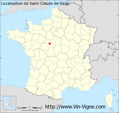 Carte  de Saint-Claude-de-Diray