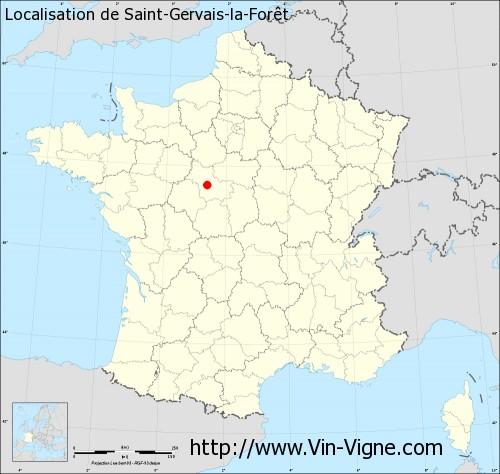 Carte de Saint-Gervais-la-Forêt