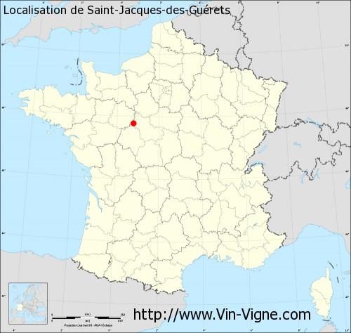 Carte de Saint-Jacques-des-Guérets