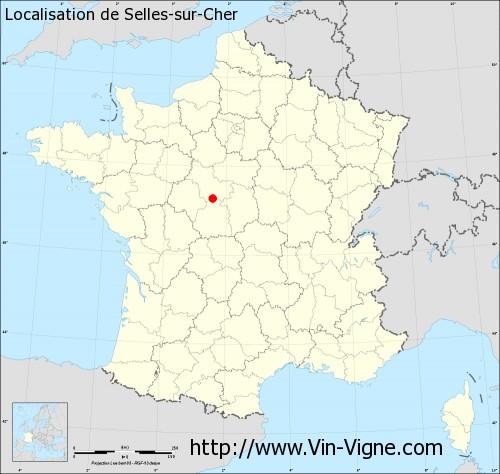 Carte de Selles-sur-Cher