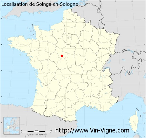 Carte de Soings-en-Sologne