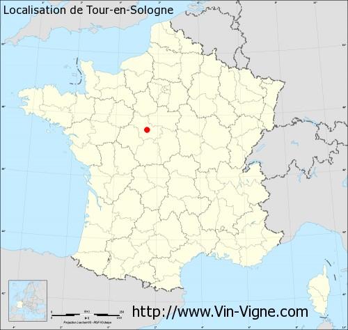 Carte de Tour-en-Sologne