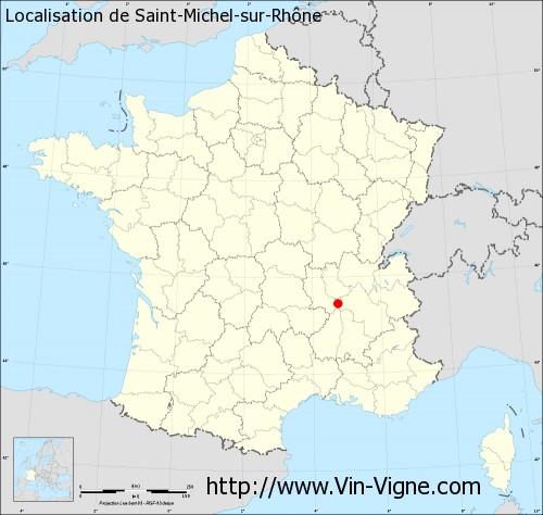 Carte de Saint-Michel-sur-Rhône
