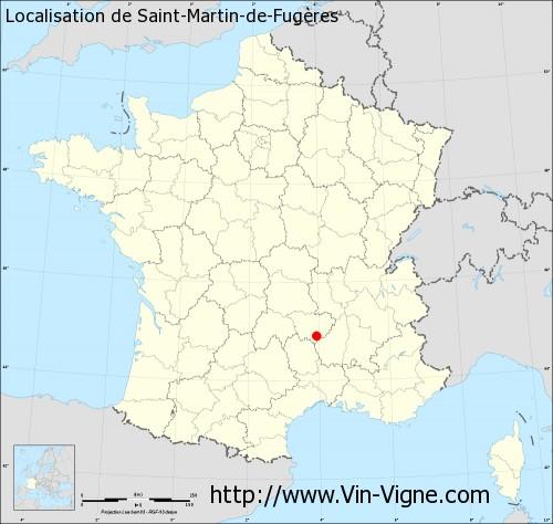 Carte de Saint-Martin-de-Fugères