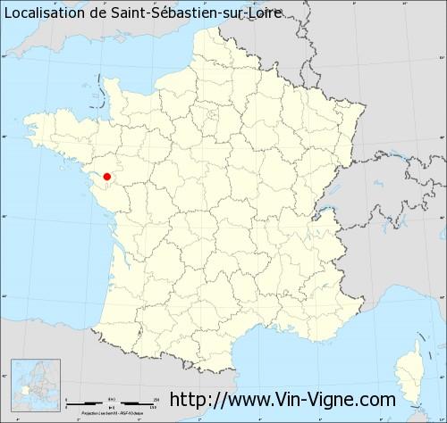 Carte de Saint-Sébastien-sur-Loire