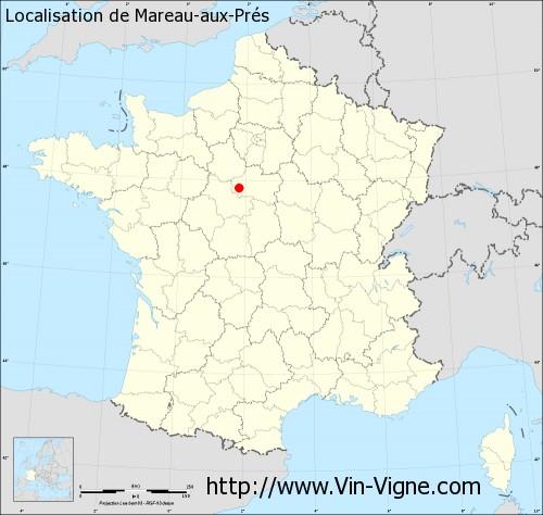 Carte de Mareau-aux-Prés