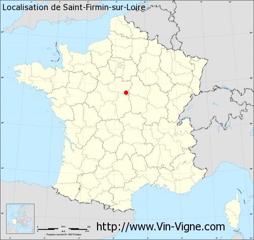 Carte de Saint-Firmin-sur-Loire