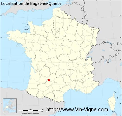 Carte de Bagat-en-Quercy
