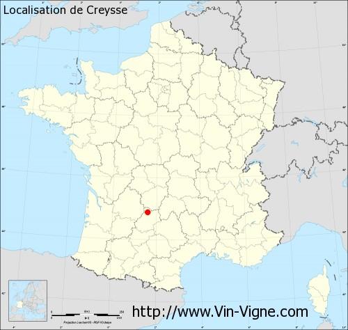 Village de Creysse (46600) : Informations viticoles et générales