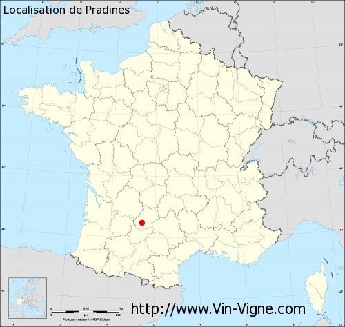 Carte de Pradines