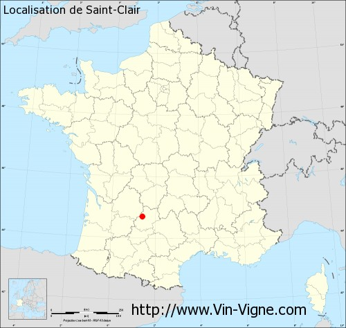 Carte  de Saint-Clair