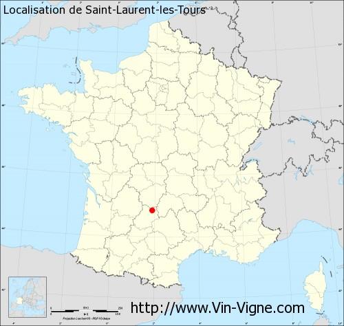 Carte de Saint-Laurent-les-Tours
