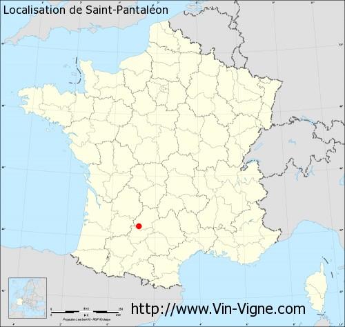 Carte de Saint-Pantaléon