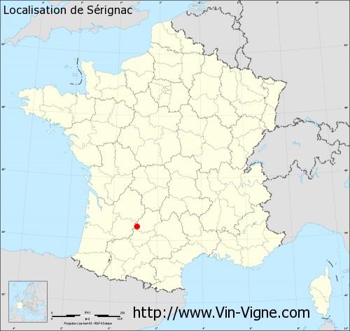 Carte de Sérignac