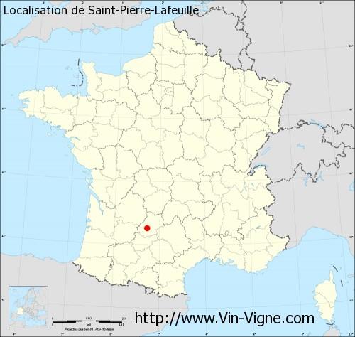 Carte de Saint-Pierre-Lafeuille