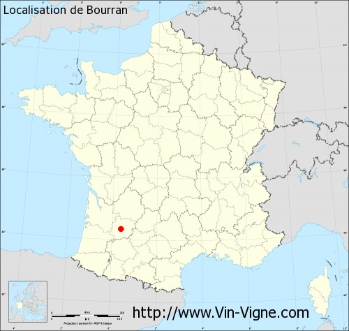 Carte de Bourran