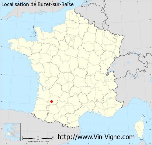 Carte de Buzet-sur-Baïse