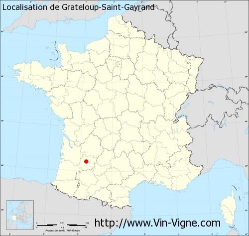 Carte de Grateloup-Saint-Gayrand