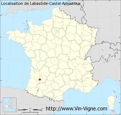 Carte de Labastide-Castel-Amouroux