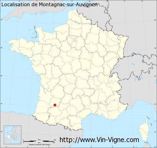 Carte de Montagnac-sur-Auvignon