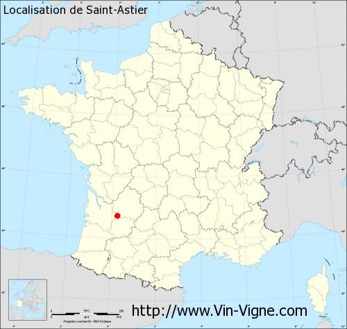 Carte de Saint-Astier
