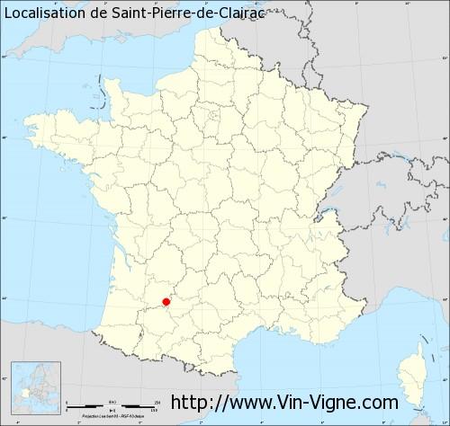 Carte de Saint-Pierre-de-Clairac