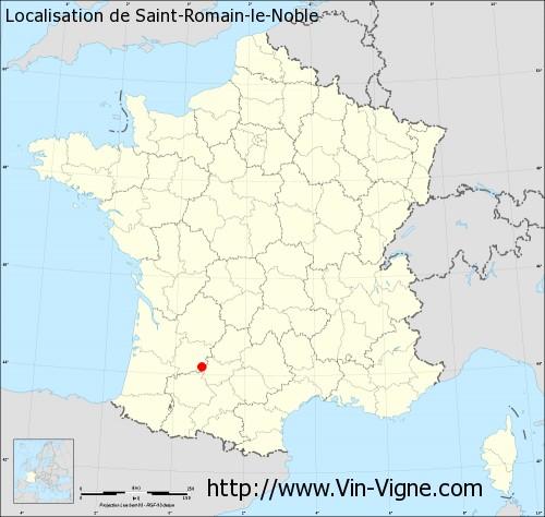 Carte de Saint-Romain-le-Noble