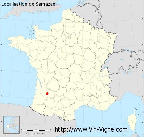 Carte de Samazan