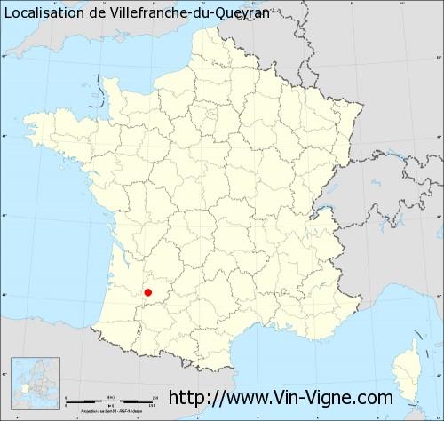 Carte de Villefranche-du-Queyran