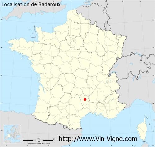 Carte de Badaroux