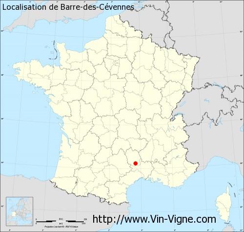 Carte de Barre-des-Cévennes