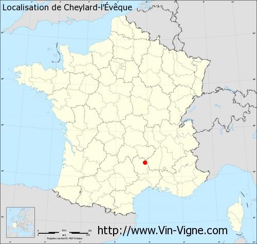 Carte de Cheylard-l'Évêque