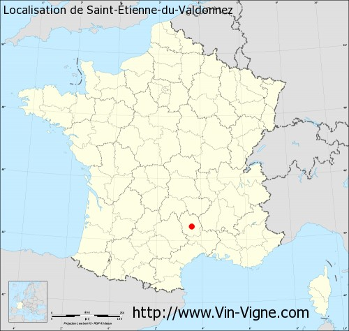 Carte de Saint-Étienne-du-Valdonnez