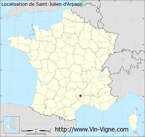 Carte de Saint-Julien-d'Arpaon