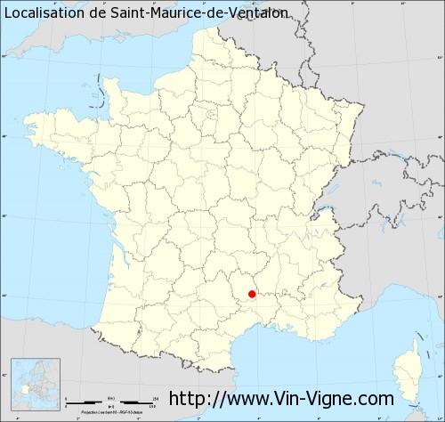 Carte de Saint-Maurice-de-Ventalon