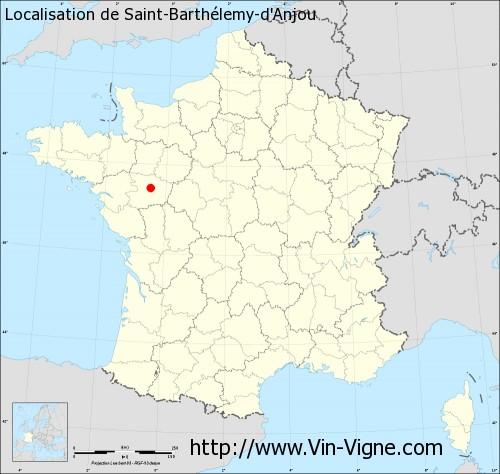 Carte de Saint-Barthélemy-d'Anjou