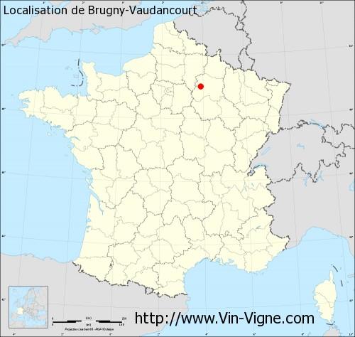 Carte de Brugny-Vaudancourt