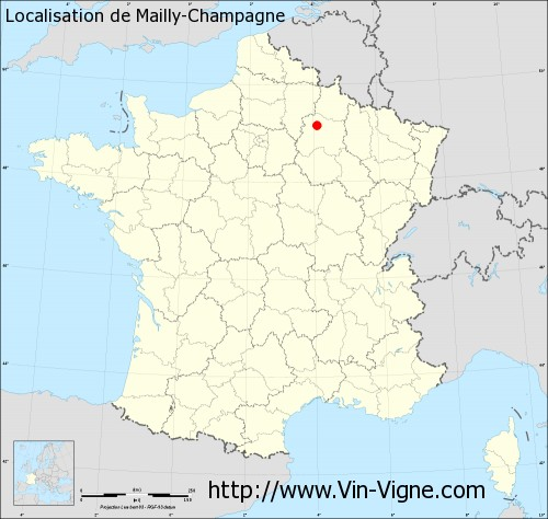 Carte de Mailly-Champagne