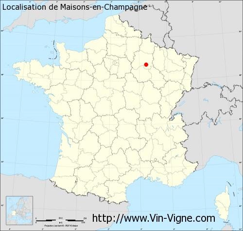 Carte de Maisons-en-Champagne