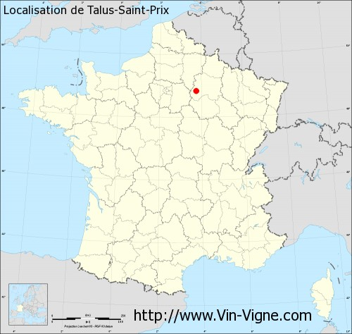 Carte de Talus-Saint-Prix